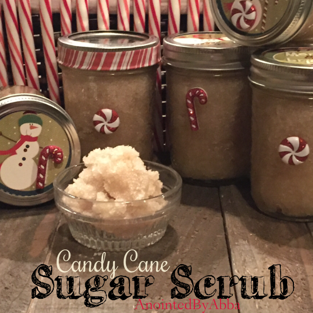 candy cane sugar scrub anointed by abba