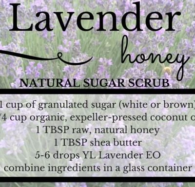 Organic Honey Lavender Sugar Scrub