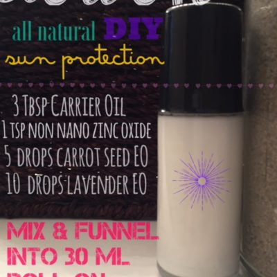 Organic & all natural sun protection – part two!