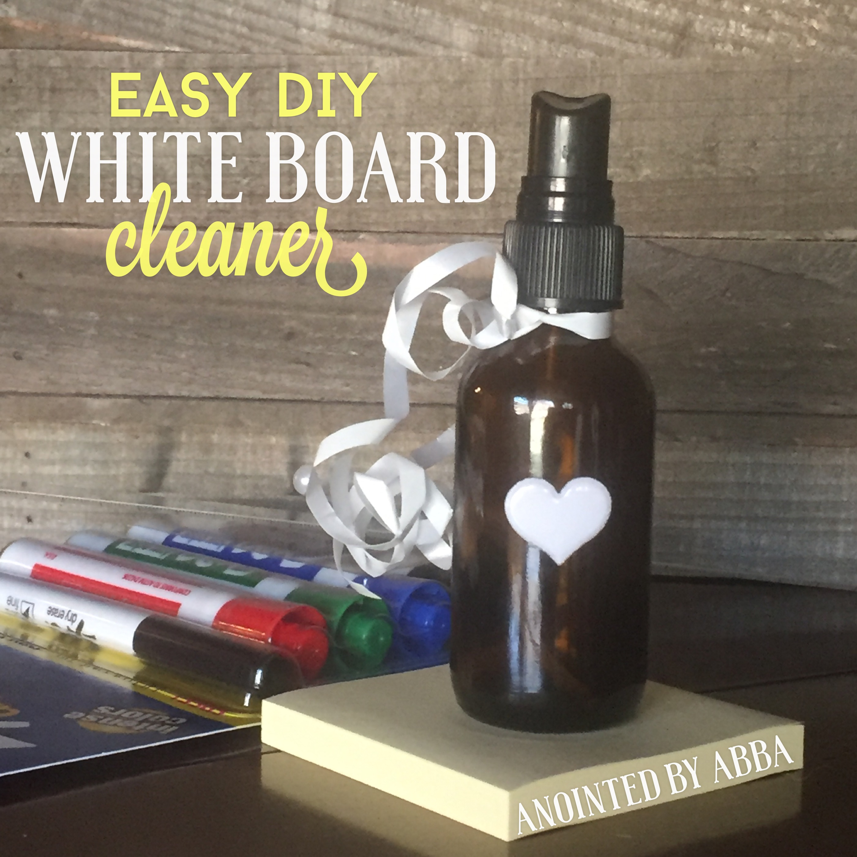 DIY Non toxic Whiteboard Cleaner