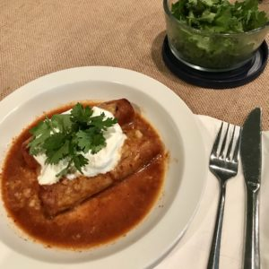 Real Good enchiladas - red beef